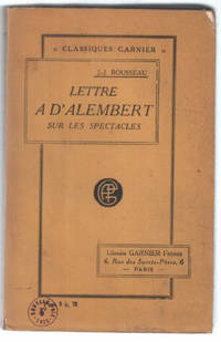 image of Lettre à D'Alembert sur les spectacles