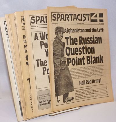 New York: Spartacist, 1986. Seven issues of Spartacist, including two double issues (31/32 and 36/37...