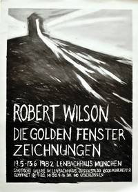 image of Die Golden Fenster Zeichnungen: 19.5 - 13.6 1982 [The Golden Windows Exhibition] (Original poster for the 1982 art exhibition)