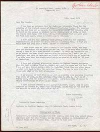 Unbound. One page dated 25 June 1951 to Mr. Wheeler (probably Monroe Wheeler) about the printing of ...