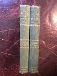 The letters of Sidonius Translated With Introduction And Notes  Original Two Vol Set.