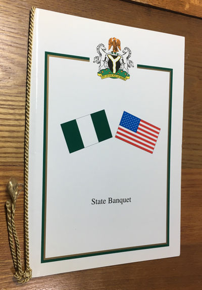 Abuja, 2000. Fine. White outer cover with Seal of Federal Republic of Nigeria and glags of Nigeria a...