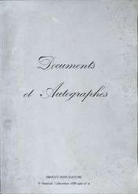 Vente 7 Décembre 1979: Autographes & Documents Historiques