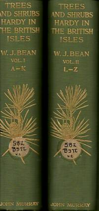 image of Trees and Shrubs Hardy in the British Isles: Vol. I A-K: Vol. II L-Z