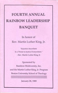 Fourth Annual Rainbow Leadership Banquet in Honor of Rev. Martin Luther King, Jr.