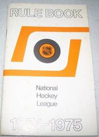 image of National Hockey League Rule Book 1974-1975 (NHL)