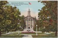 Administration Building, Western Illinois State Teachers College, Macomb, Illinois Postcard