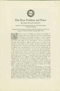 THE RACE PROBLEM AND PEACE [caption title]