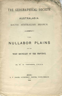 image of The Nullabor Plains and the West Boundary of the Province.  Pamphlet