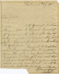 "Jeffery Amherst ASL ""letter of recommendation"" for Barrington Bradshaw (to unkonwn) UK Manusricpt 1796"