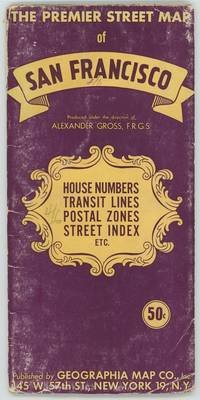 The Premier Street Map of San Francisco. House Numbers Transit Lines Postal Zones Street Index Etc.