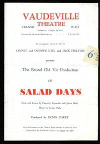 'Salad Days': Souvenir Theatre Programme Performed at Vaudeville Theatre, Strand, London