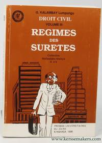 Droit civil volume III. Regimes des suretes. Collection Mafundisho-Mateya A no4