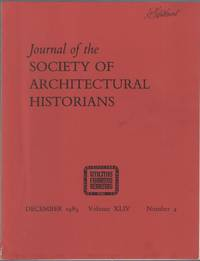 image of Journal of the Society of Architectural Historians: December 1985, Volume XLIV, Number 4