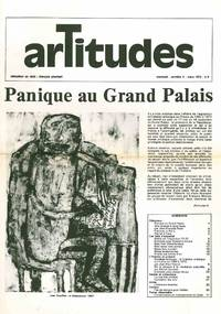 Artitudes. Revue Mensuel. No. 1 (October 1971) through No. 8/9 (July/August/September 1972) (all published in this series)