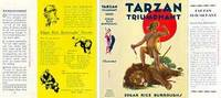 image of Tarzan Triumphant (facsimile dust jacket for the first Grosset & Dunlap book edition-JACKET ONLY; NO BOOK)