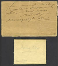image of Autographed note by Niccolo Paganini, the Italian violinist, composer