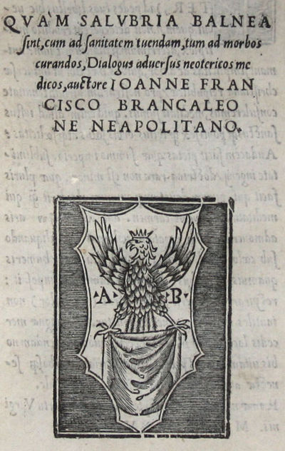 4to. , (30) ff. Woodcut printer's device on title, two woodcut initials. Bound in old stiff vellum s...