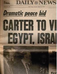 image of 1971: New York Daily News: March 6, 1971 (Jimmy Carter to Visit Egypt,  Israel)