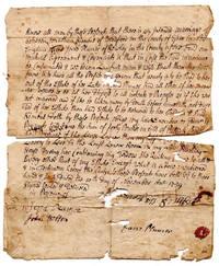 Benjamin Kimball Family Document. 1739 Marriage Agreement between Jonathan Kimball and Jane...