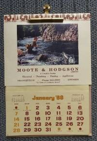 image of 1968 COOKING CLUB CALENDAR - ADVERTISING PIECE FOR MOOTE & HODGSON LIMITED, ORANGEVILLE, ONTARIO.