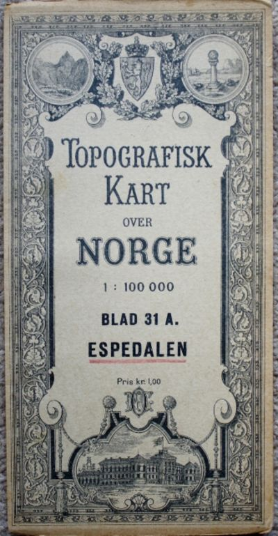 Topografisk Kart Over Norge Topographical Map Of Norway Blad