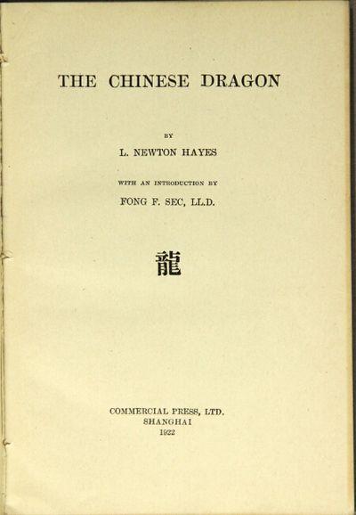 Shanghai: Commercial Press, Ltd, 1922. First edition, thin 12mo, pp. xv, , 40; 28 illustrations, mos...