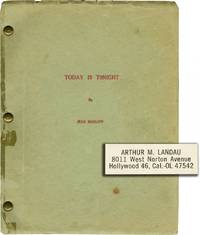 Today is Tonight (Manuscript for the novel, copy belonging to Harlow's agent Arthur Landau) by Harlow, Jean (novel); Arthur Landau (introduction) - 1930