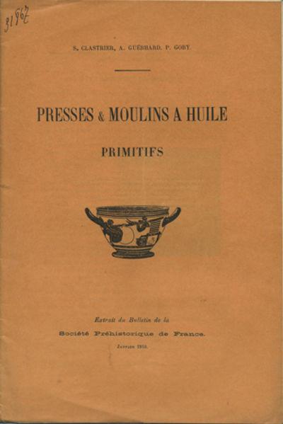 Paris: Société Préhistorique de France, 1910. Offprint. Paper wrappers. A very good copy.. 16 pp....