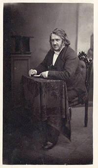 Edinburgh, 1856. Simpson, James Young (1811-70). Carte-de-visite portrait photograph by Ross & Thoms...