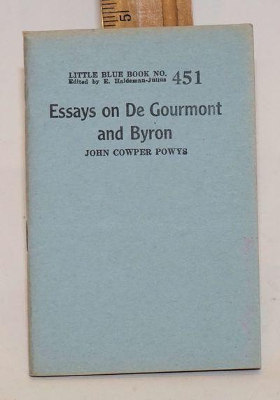 Girard, KS: Haldeman-Julius Company, 1923. 63p., wraps, 3.5x5 inches, lightly edgeworn. Little blue ...