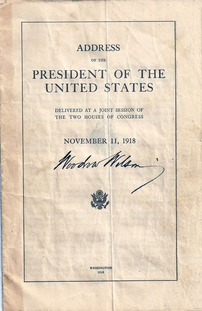Washington: , 1918. First Edition. wraps. Vertical crease down center, fair amount of wrinkling. Ver...