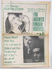 image of San Francisco Express Times: vol. 1, #29, August 7, 1968: FBI Agents Finger Hoover!