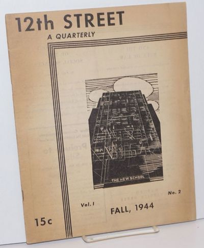 New York: New School for Social Research, 1944. Single issue of the student publication from the New...