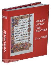 APPLIED DESIGN FOR PRINTERS, A HANDBOOK OF THE PRINCIPLES OF ARRANGEMENT, WITH BRIEF COMMENT ON...