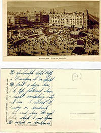image of Photographic view postcards of Barcelona with manuscript text verso