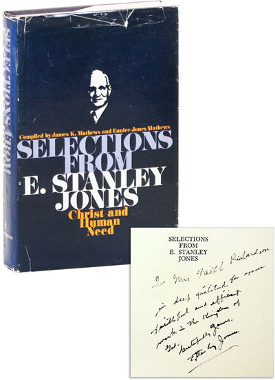 Nashville: Abingdon Press, 1972. First Edition. Hardcover. Compilation of writings by the missionary...