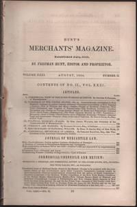 Hunt's Merchants' Magazine. Volume XXXI, No. 2. August 1854