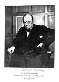 Winston Spencer Churchill Honorary Cartier Dinner Program Signed.