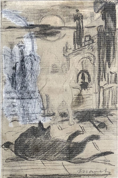 Paris, 1868.. Graphite, black ink, and white gouache, on buff laid paper (watermark indistinct). 140...