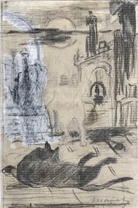 """Study for """"Rendez-vous des chats."""""""