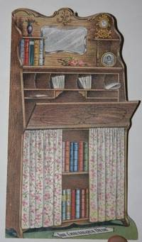 NA. FIne. N.d., circa 1900. A shaped sales circular, with a picture of a desk lined with books on se...