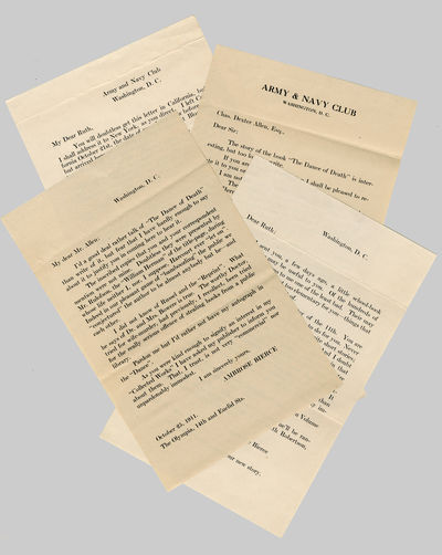 . The envelopes were place in the Bierce items offered for sale, one in each volume. I am informed b...