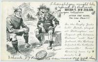Britain v New Zealand / After the Game/The Lion - Phew!!! Postcard
