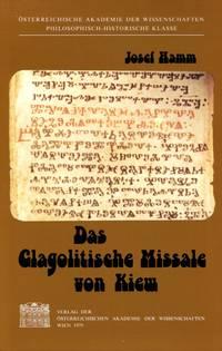 image of Das Glagolitische Missale von Kiew (Schriften der Balkankommission, Linguistische Abteilung) (German Edition) (Signed By Author)