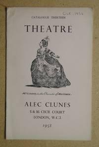 Alec Clunes Catalogue Thirteen: Theatre. 1958.