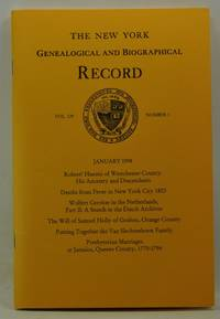 image of The New York Genealogical and Biographical Record, Volume 129, Number 1 (January 1998)