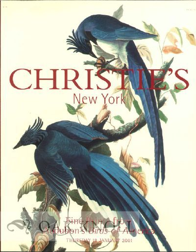 New York, NY: Christie's, 2001. stiff paper wrappers. Audubon, John James. 4to. stiff paper wrappers...