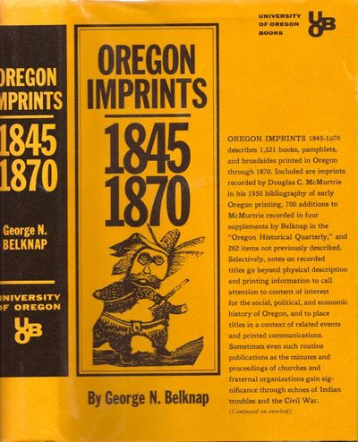 Eugene: University of Oregon Books, 1968. First Edition. Hardcover. Near fine/near fine. Quarto. 305...