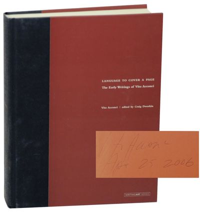 Cambridge, MA: The MIT Press, 2006. First edition. Hardcover. First printing. 411 pages. Anthology o...
